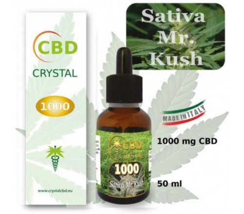 CRYSTAL CBD 1000 SATIVA KUSH 50 ML
