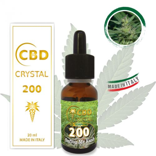 CRYSTAL CBD 200 SATIVA 20 ML